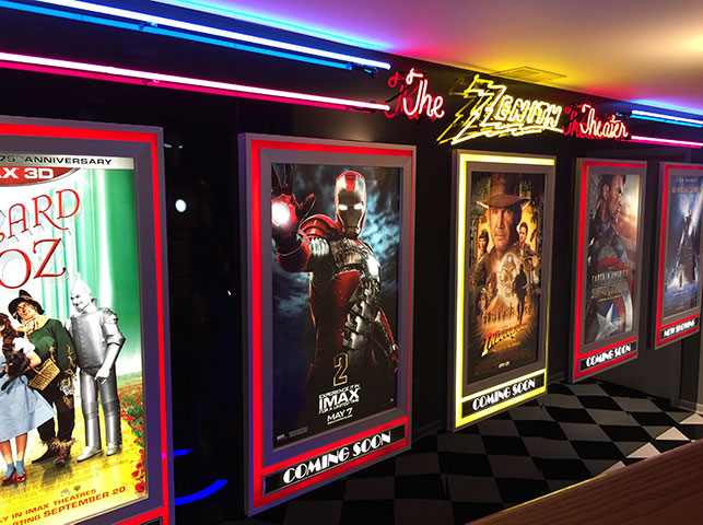 custom movie theater signs