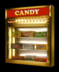candy display case